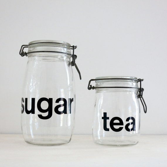 Vintage Sugar and Tea Canisters