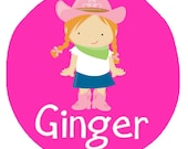 Personalized Cowgirl in her Cowboy Boots- Baby Bodysuit or Toddler Tee - Available in various colors and sizes