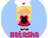 Personalized Adorable Little Baker Girl Design - Baby Bodysuit or Toddler Tee - Available in various colors and sizes