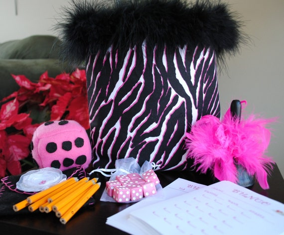 Funky Bunco Game Bag made to order