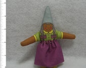 Gnomeling Brown Girl - Child Female - of the Woodland and Home Variety - Free Shipping USA