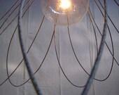 Wire Flower Chandelier