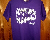 Mens Purple Peace in the City Shirt Small