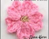 Floribunda Rose Crochet Pattern PDF