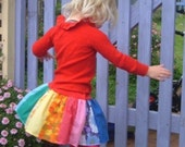 Girls Retro Rainbow Twirly Skirt size 1 2 3 4 5 6 7 8 9 10 Made in Australia