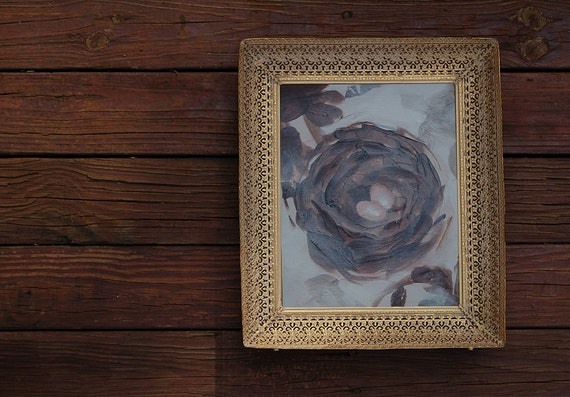 Original Painting - Antique Frame Nest