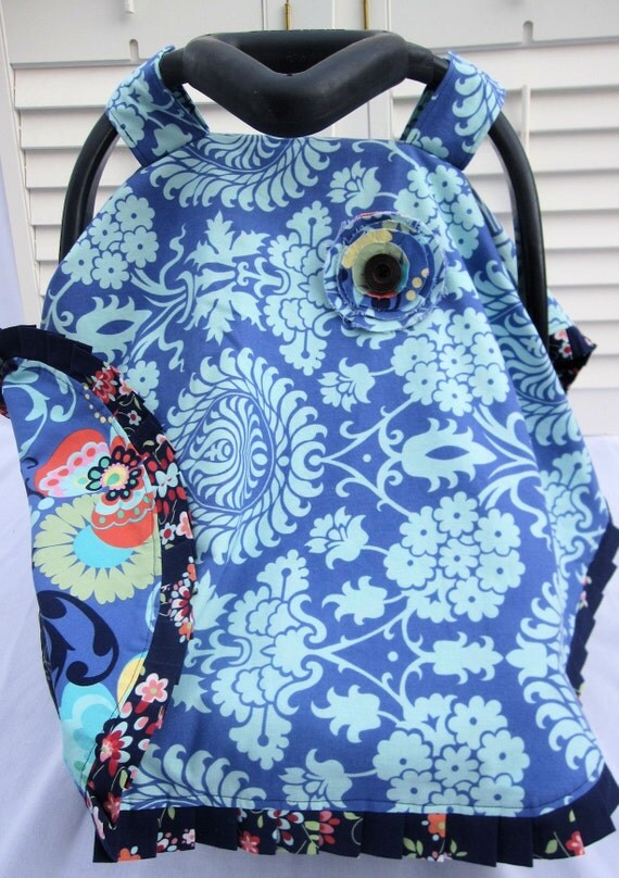 Reversible car seat canopy tent couture line n for Canopy couture