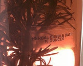 Lavender  and Rosemary Bubble Bath. Homegrown in the Adirondack Mountains, Herb Infused Aromatherapy Herbal Soak 16 Ounces