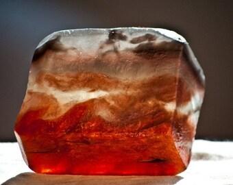 Terra Earth Crystal Gem Soap. Patchouli Vetiver Amber and Ginger.