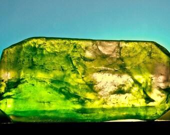 Key Lime Crystal Gem Soap. Lemon Lime Scent.