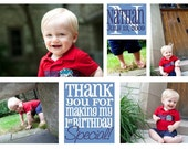 Custom Photo Collage Thank you card
