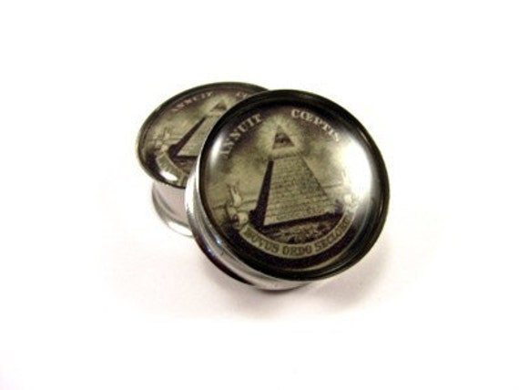 All Seeing Eye Picture Plugs gauges - 1 1/8, 1 1/4, 1 3/8, 1 1/2 inch