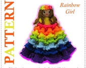 ENGLISH Instructions ONLY - Instant Download PDF Crochet Pattern Rainbow Girl