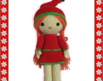 ENGLISH Instructions - Instant Download PDF Crochet Pattern Christmas Girl