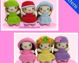ENGLISH Instructions - Instant Download PDF Crochet Pattern Little Girls