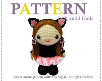 ENGLISH Instructions - Instant Download PDF Crochet Pattern Bella in Ballerina Catsuit