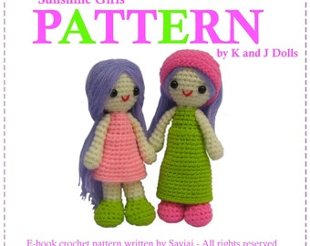 ENGLISH Instructions ONLY - Instant Download PDF Crochet Pattern Sunshine girls