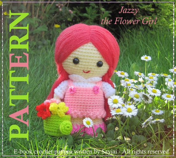 ENGLISH Instructions - Instant Download PDF Crochet Pattern Jazzy the Flower Girl