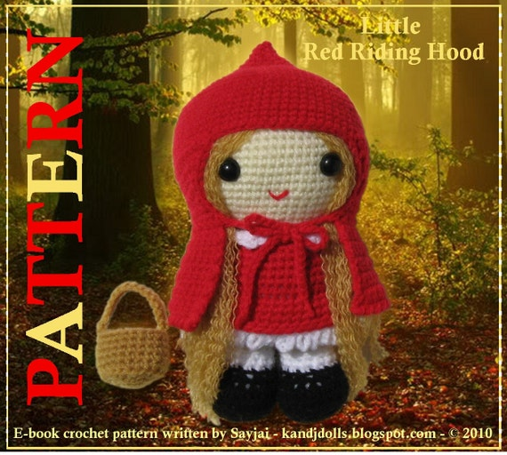 ENGLISH Instructions - Instant Download PDF Crochet Pattern Red Riding Hood