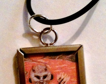 Little Dooker Devil - square pendant