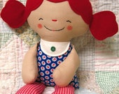 Softie Doll PATTERN, PDF pattern, Cloth Doll, Rag Doll, Soft Toy, Cookie, Gingerbread Man, digital download, instant download