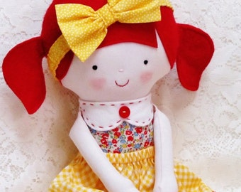 Soft Doll PATTERN, INCLUDES the doll clothes, PDF sewing pattern, Softie, Soft Toy, Cloth Doll Pattern, Rag Doll Pattern, tutorial