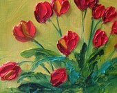 Original Oil Red Tulips