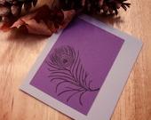 Proud Purple Peacocks Card Set