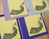 Purple Peacocks Card Set