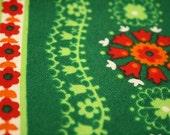 Green vintage tablecloth