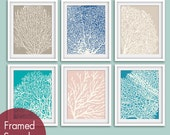 Underwater Sea Coral Collection (Series D) -Set of 6 - Art Prints - Featured in Assorted Colors