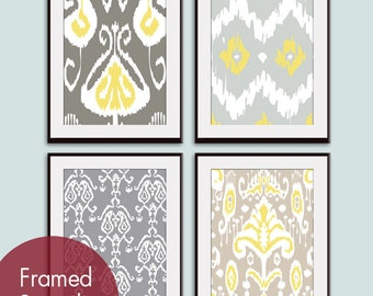 Ikat Patterns set of 4 (series B) - Art Prints (Featured in Assorted Colors) Customizable Colors