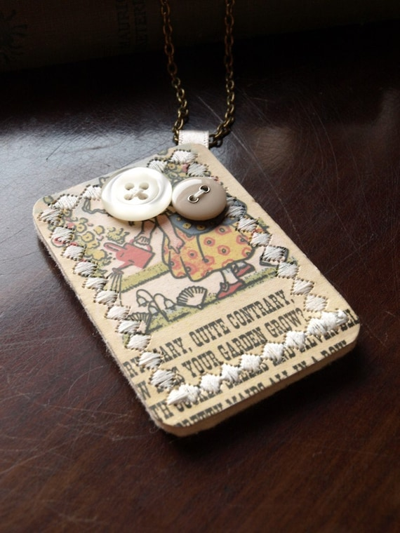75% SALE   'Mary, Mary...' Snap Card Necklace