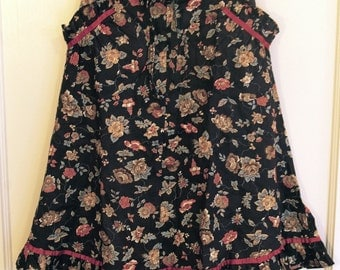 70s Floral Skirt XS