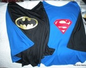 Reversible Superman/Batman Child's Cape