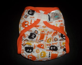 Candy Corn Ooga Polyester PUL Cloth Diaper Cover With Aplix Hook & Loop Or Snaps You Pick Size XS/Newborn, Small, Medium, Large, or One Size