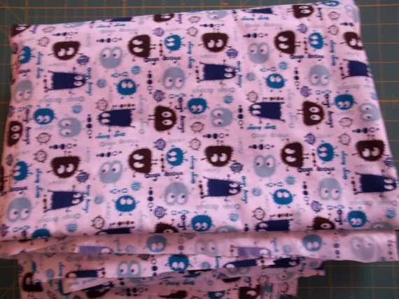 Blueberry Ooga Booga Polyester PUL Diaper Cut 18 in X 20 in