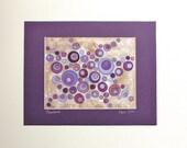 Plumburst Art Print with 11 x 14 Purple Mat