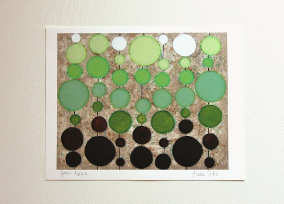 Green Abacus Print