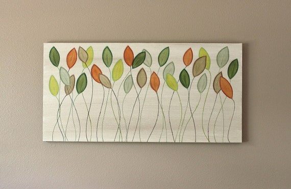 Simple Changes  original acrylic painting on 18 x 36 canvas