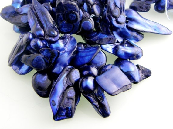 Cobalt Baroque Cultured Pearl Beads