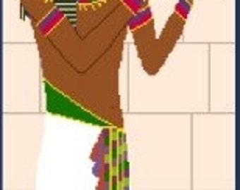 Needlepoint or Cross Stitch Pattern Design Chart - Egyptian King Tut