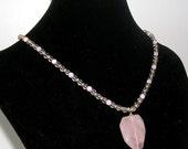 SALE - MARIA - Rose Quartz Necklace
