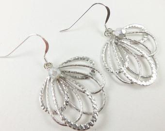 Silver Dangle Earrings Sterling Silver Filigree Dangle Earrings Metal