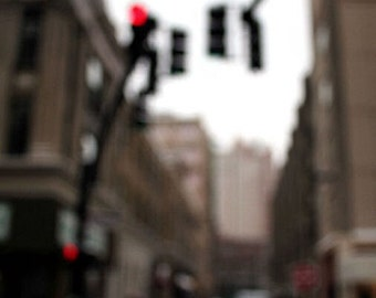 Abstract Photography, Cityscape, Fine Art, Life is a Blur Print, 8X10 Mat, City Streets, Wall Hanging, Ready to Frame