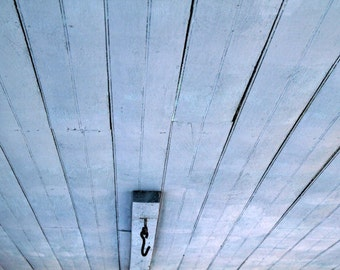 Fine Art Photography, Porch Ceiling Blue Print, Abstract Photography, Wall Art, Ready to Frame, 8X10 Mat