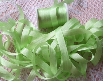 Pure Silk Ribbon 7 mm 1/4 inch wide 10 yards Mint  Color -636-