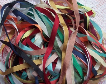 Pure Silk Ribbon 7mm 1/4 inch wide 50 yd Assortment ON SALE FOR Limited Time