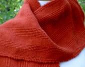 Handwoven Wool Scarf in Pumpkin Spice