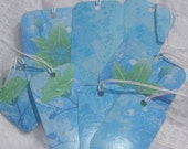 Rainfall in Blue Gift Tags